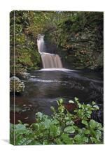 Linn Falls Aberlour Scotland, Canvas Print