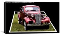 3D Classic Car, Canvas Print
