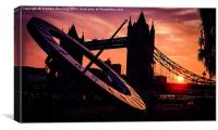 Tower Bridge Sunset, Canvas Print