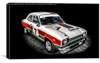 Ford Escort Sport, Canvas Print