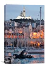 Marseilles at night, Canvas Print