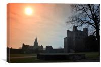 Rochester Castle in Medway, Kent, Canvas Print