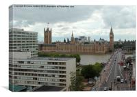 Houses of Parliament from Park Plaza hotel, Canvas Print