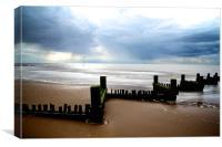 Sea front at Hunstanton, Canvas Print