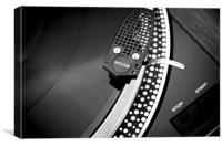 Needle on the record , Canvas Print