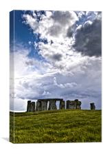 Stonehenge in spring, Canvas Print