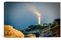 Lighthouse by the cliffs, Canvas Print
