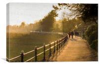 Promenade, Canvas Print
