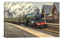 Flying Scotsman at Dent Station, Canvas Print