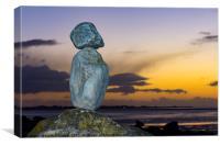 Mini Moai of Morecambe Bay, Canvas Print