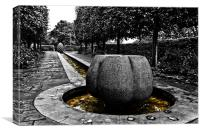 Bristol Castle Park Stone Flower, Canvas Print