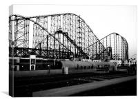 Monochrome Roller Coaster, Canvas Print