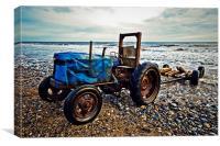 Beach Tractor, Canvas Print