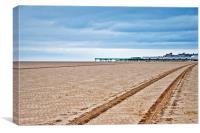Beach tracks, Canvas Print