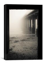 Foggy Felixstowe Pier, Canvas Print