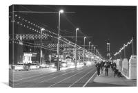Blackpool Promenade, Canvas Print
