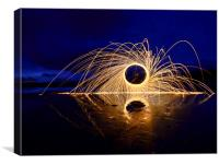 Ring of fire, Canvas Print