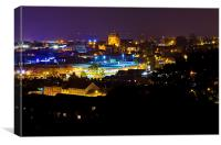 Yeovil nightshot, Canvas Print