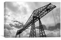 Transporter bridge, Canvas Print
