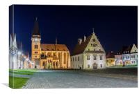 The Town Hall Square in Bardejov, Canvas Print
