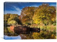 Sunken Barges, Canvas Print