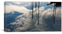 Masts reflected, Canvas Print