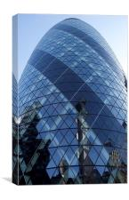 London Gherkin, Canvas Print