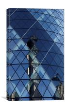 London Gherkin Abstract, Canvas Print