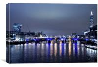 London Bridge from the Thames, Canvas Print