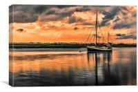 Surreal Sunset over the backwaters, Canvas Print