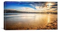 View Towards Medway Bridge in Kent, Canvas Print