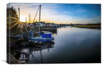 Peaceful Essex Rowhedge at Sunset, Canvas Print