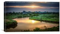 Sunset Whilst Looking For Barn Owls, Canvas Print