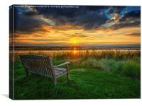 Sit and Reflect As The Sun Goes Down, Canvas Print