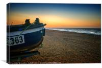 Final seconds of Norfolk Sunset, Canvas Print