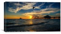 Clearwater Beach Sunset Florida, Canvas Print