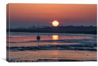 April Sunrise Over Landermere Quay, Canvas Print