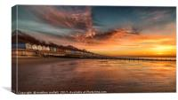 Red Sky Morning At Frinton On Sea, Canvas Print