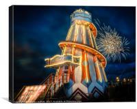 Happy Birthday Clacton Pier, Canvas Print
