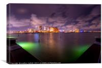 Clearwater Florida By Night, Canvas Print