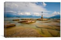 Sirmione Beach View Lake Garda , Canvas Print