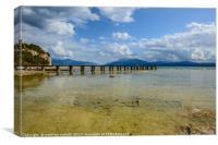 Lake Garda Italy Beach View, Canvas Print