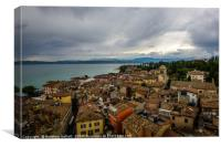 Sirmione Italy Rooftop View, Canvas Print