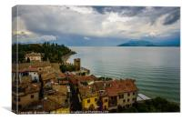 Sirmione Italy Rooftop Scene, Canvas Print
