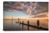 Sunset On Dovercourt Beach, Canvas Print