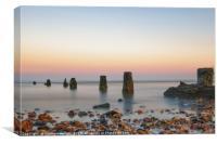 Pastel Sunset At Frinton, Canvas Print