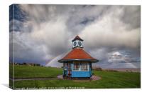Rainbow At Frinton Clocktower, Canvas Print