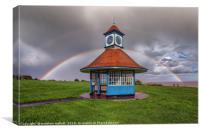 Rainbows Over Frinton Clocktower, Canvas Print
