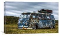 VW Split Screen Camper, Canvas Print