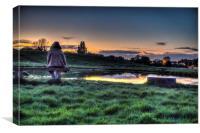 Sunset over Mitcham, Canvas Print